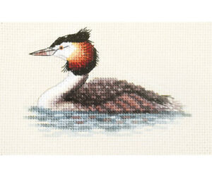 GREAT CRESTED GREBE Water Bird ~ Full cross stitch kit + all materials *FIDO