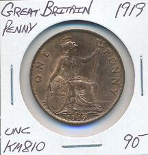GREAT BRITAIN PENNY 1919 KM810 - UNC