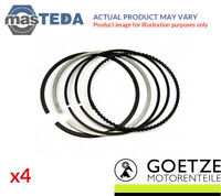 4x ENGINE PISTON RING SET GOETZE ENGINE 08-107900-00 I STD NEW OE REPLACEMENT