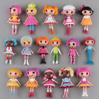 Lot of 8X Mini Lalaloopsy Dolls Cute Small Toys Home Decor Collections Beauty^