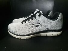 Skecher Skech Knit Mens size 10.5 Grey Running Shoes