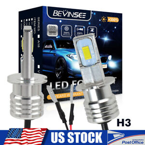 BEVINSEE For Lexus ES300 1992-2003 LED Fog Lights Driving Lamp 2x H3 White Bulbs