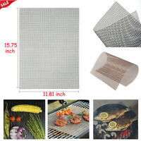 BBQ Grill Mesh Non-Stick Mat Teflon Sheet Barbecue Meat Resistant  Reusable