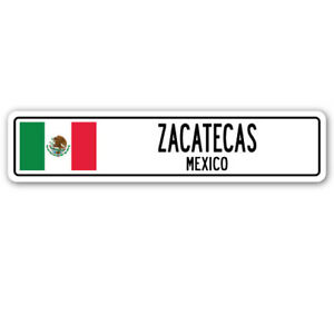 ZACATECAS, MEXICO Street Sign Mexican flag city country road wall gift