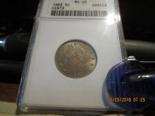 New listing 1883 W/Cents Anacs Liberty Head Nickel Ms-65 +