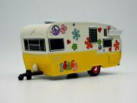 1962 Shasta Airflyte Trailer Camper Hippy 1/64 Scale RARE Diecast Diorama PEACE