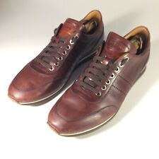 Magnanni Merino Mens 9 M Mid-Brown Leather Casual Sneakers Shoes $325 MSRP