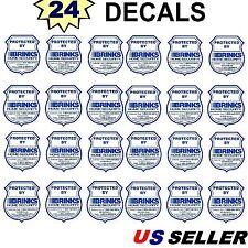 24 Home Security Alarm Monitoring System Burglar Window Warning Sticker Decals