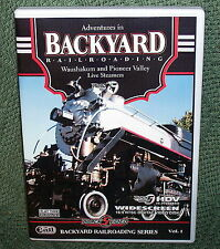 "b011 LIVE STEAM DVD VIDEO ""NEW ENGLAND LIVE STEAM SPECIAL"" BACKYARD RAILROADING"