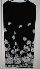 Long Skirt by Day2Day, Black,Floral, Nylon, L