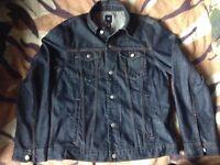Gap Dark Indigo Blue Denim Jacket Large Western Trucker Streetwear Heavy Duty