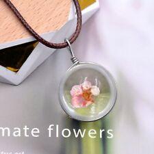 Collar Colgante de bola de resina de flor de verdad – Flor De Cerezo