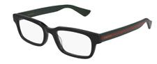 Gucci GG 0928O 005 Black/Green Rectangle Men's Eyeglasses