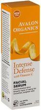 Avalon Organics Intense Defense with Vitamin C Facial Serum 1 oz (Pack of 2)