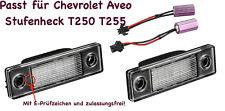2x TOP LED SMD Kennzeichenbeleuchtung Chevrolet Aveo Stufenheck T250 T255 /2201/