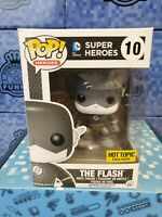 FUNKO POP THE FLASH EXCLUSIVE W/STICKER #02 IN HAND W/ POP PROTECTOR