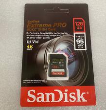 SanDisk 95MB/s Extreme PRO 128GB 64G SDXC V30 U3 C10 Camera Memory Card New