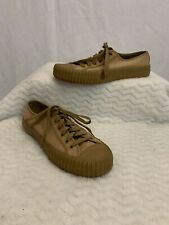PF Flyers Low top Posture Foundation Rigid Wedge Beige Sneakers Shoes Size 7