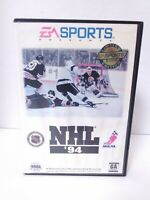 NHL 94 Hockey Sega Genesis Game & Case Authentic Tested Fast Shipping!
