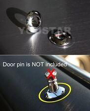 x2 Chrome Door Lock Knob Grommets for BMW 1 3 5 Z3 Series E46 E90 E81 E88 E39