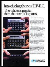 1982 HP-11C calculator photo Hewlett Packard vintage print ad