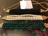 Ethnic Kundan Bead Traditional Jewelry Party Bollywood Latest Necklace Jewelry