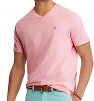 Polo Ralph Lauren Mens Big and Tall Classic Fit V-Neck Cotton T-Shirt Pink XLT
