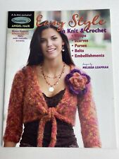 New listing Leisure Arts Easy Style in Knit & Crochet Patterns by Melisa Leapman