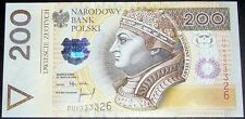 200 zloty  Poland 1994 P-177a UNC DU6333328 zl zlotych original Uncirculated