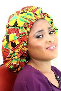 Afrikanisches handgemachte Haarnetz in Satin und Wachs für Damen, Haarnetz