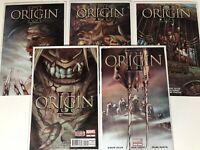 ORIGIN 2 II #1 -#5 FULL RUN LOT MARVEL COMIC BOOK WOLVERINE LOGAN X-MEN
