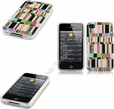 For Apple iPhone 4/4S Pastel Oh So Mexico Aztec TPU Silicone Gel Skin Case