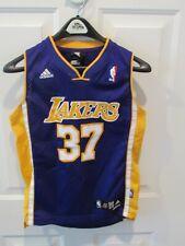 Los Angeles Lakers Ron Artest Adidas sewn NBA jersey Metta boy's medium VGC