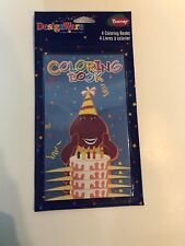 BARNEY MINI COLORING BOOKS (4) ~ Birthday Party Supplies Favors Toys PBS Kids