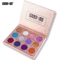 12Farben Eyeshadow Lidschatten Shimmer Palette Augen Puder Makeup Kosmetik Mode