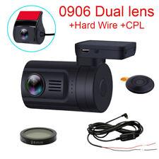 Blueskysea Mini 0906 HD 1080P Dual Car Dash Camera DVR w/ GPS + Hard Wire + CPL