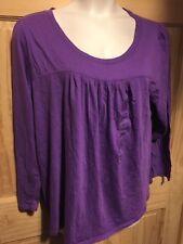 Lane Bryant Cacique Pajama Sleepshirt Long Sleeve Purple Top - Plus Sizes