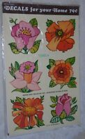 True Vintage 1976 Meyercord Sheet of FLOWER Decal Transfers 1540-A For Your Home