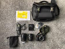 Nikon D3200 24.2MP Digital SLR Camera -Black (Kit w/ Extras)