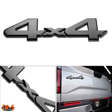 """4X4""Polished Metal 3D Decal Black Emblem For Mercedes/Ford/Subaru/Eagle/Nissan"