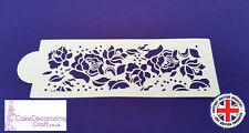 Stencils Cake Cupcake Decorating Craft Airbrush Buttercream| Roses and Pearls