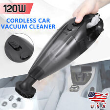 Portable 120W Cordless Car Duster Vacuum Cleaner 12V Auto Small Handheld Wet Dry