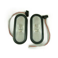 "Pair (2) of Clear White 6"" Oval Truck Trailer Reverse Back Up Light Kits KIT1038"