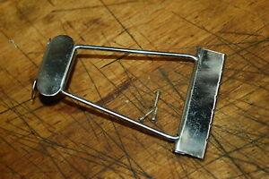 RARE Vintage 1965 Acoustic Guitar Flat Top Parlor Screws Tailpiece Luthier Parts