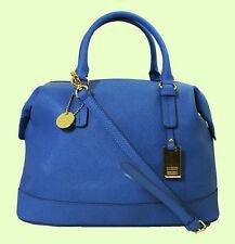 TOMMY HILFIGER HERITAGE Blue Leather Satchel Shoulder Bag Msrp $168.00