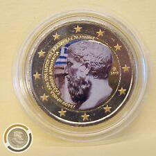 Platone Fondazione Accademia 2 euro farbmünze Colour 2013 Grecia Greece (566