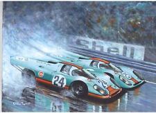 Porsche 917's, Spa 1970 impresión de arte