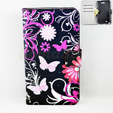 Premium Leather Stand Flip Wallet Cover Case For Samsung Galaxy Note 2 II N7100