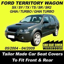 Car Seat Covers To Fit FORD TERRITORY WAGON Front & Rear Charcoal 2004 - 2009
