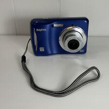 Sanyo VPC-S1080BL 10MP Digital Still Camera - Blue - TESTED & WORKING!